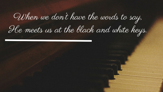 I used to think electric guitars killed piano hymns and now I think I can hear the beauty in the black and white keys.