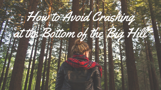 how to avoid crashing at the bottom of the big hill
